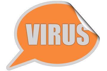 SP-Sticker orange curl oben VIRUS