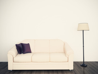modern comfortable interior couch