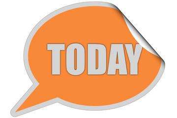 SP-Sticker orange curl oben TODAY