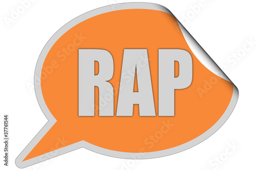 SP-Sticker orange curl oben RAP