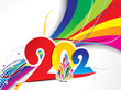 abstract colorful 2012 new year background