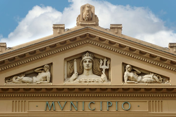 The town hall of Messina: detail