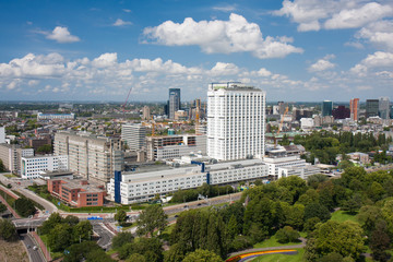 Aerial view of the Erasmus university hospital of Rotterdam, the