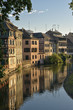 Medieval houses reflected in the river Ill, Strasbourg