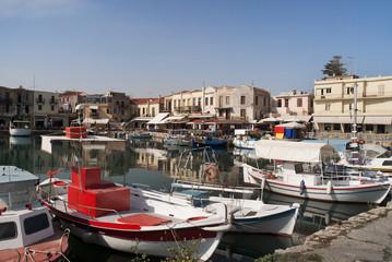 The Venetian Harbour at Rethymno Crete Greece