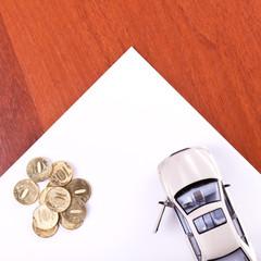 Car, coins
