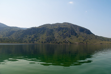 Kournas the only freshwater lake on the island of Crete, Greece