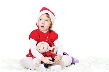 playing santa girl