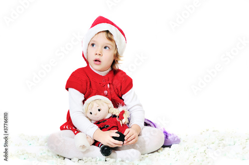 playing santa girl