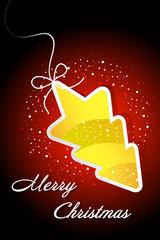 Christmas card - christmas tree on lace