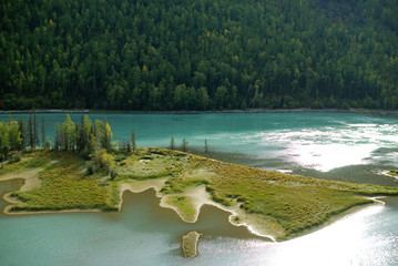 China Xinjiang scenery, Kala Si Lake