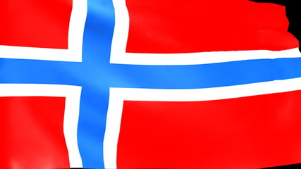 Bandiera norvegese - Norway