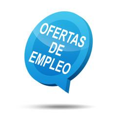 Icono 3d texto OFERTAS DE EMPLEO