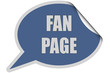 SP-Sticker blau curl oben FAN PAGE