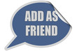 SP-Sticker blau ADD AS FRIEND