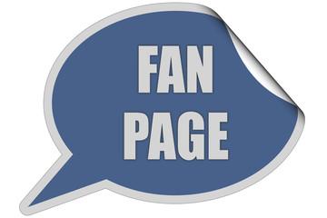 SP-Sticker blau curl oben FAN PAGE