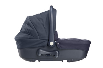 A studio shot of a carrycot