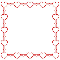 Valentines frame background