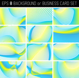 lovely colors linear business card (or background) set poster