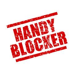 stempel eckig handyblocker I