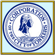 usa states city county yonkers seal coat emblem