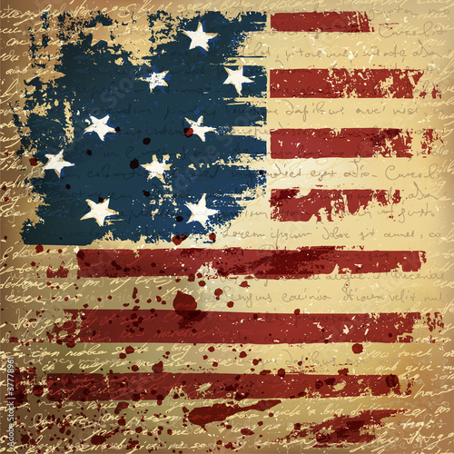 Independence Day Background. Abstract, grunge, vector. - 37778961