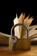 An old book and a keylock