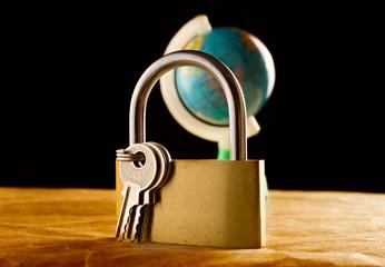 Globe and the keylock