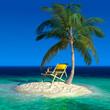 Fototapeten,insel,palme,chaise,strand