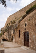 Facade of little Orthodox Chapel in Rethymno Crete
