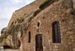 Facade of little Orthodox Chapel in Rethymno Crete