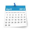 Calendar 2012 - April