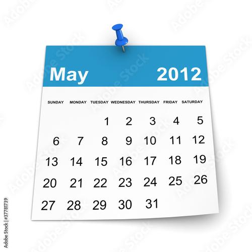 Calendar 2012 - May