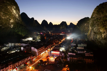 Yangshuo nightscape