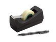 adhesive tape dispenser and pen (clipping path )