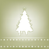 Elegant card with christmas tree. EPS 8