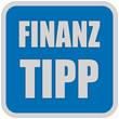Sticker blau quadrat oc FINANZ TIPP