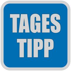 Sticker blau quadrat oc TAGES TIPP