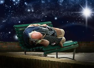 dormendo sotto le stelle