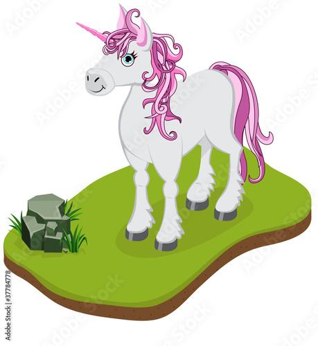 Poster Pony Isometric Cartoon Unicorn
