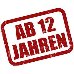 Grunge Stempel rot AB 12 JAHREN