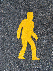 Simbolo peatonal