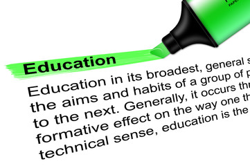 Highlighter Education green