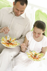 Parents séparés - Repas Père et Fille