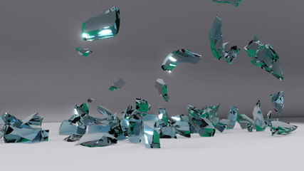 explosion of 2011, fragments