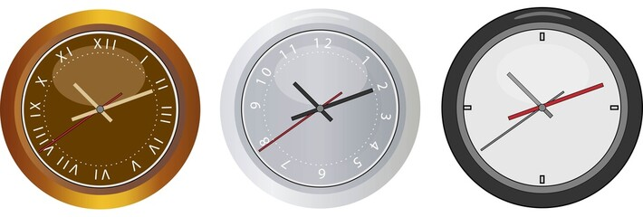 Three age clocks, past, present, future