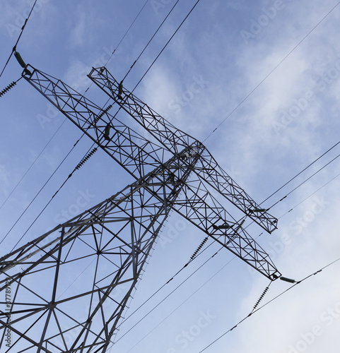Electric power line and sky
