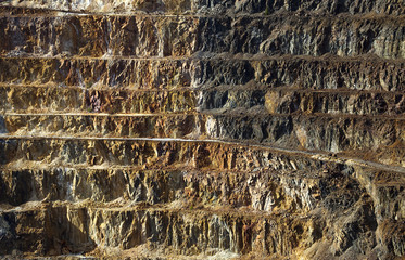 Copper mine open pit