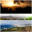 Honolulu, Panoramen-Collage