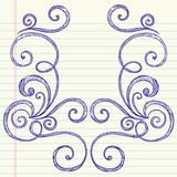 Sketchy Doodle Swirl Vector Frame Design poster